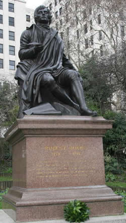Robbert Burns' Statue on the Embankment in London